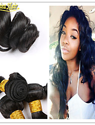"""3pcs/Lot 8A brazilian loose wave hair weave 100% human hair weft 1b wavy Hair extensions products bundles 8""""-32"""""""