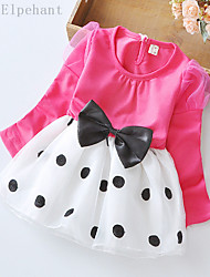 Big Elephant New Baby Girls Clothing Ball Gown Dress Kids Bow Top Outfits Sets for 3-24M D04L Rose