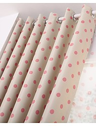 dos paneles europeo cortina contraído dot design moda del dormitorio de la sala de los niños