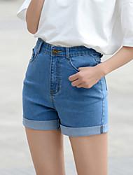 Women's Sexy Vintage High-waist Shorts Jeans