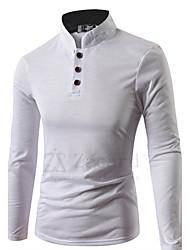 Men's Long Sleeve Polo , Cotton Casual