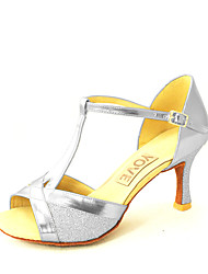 """Disponibile """"su misura"""" Donna Scarpe da ballo Latinoamericano/Salsa Eco-pelle Customized Heel Nero/Blu/Rosso/Argento/Oro"""