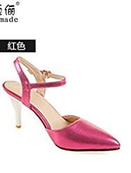 Women's Shoes Synthetic Kitten Heel Gladiator/Open Toe Sandals Outdoor/Office & Career/Dress/Casual Yellow/Green/Beige