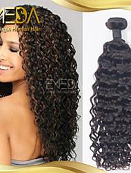 cabelo humano onda indiano cru água cabelo virgem de qualidade premium tece 1pcs natural preto 8 '' - 30 ''