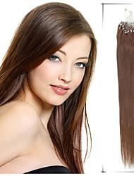 """1pc / lot 16 """"-22"""" 0.8g / s pelo recto micro loop pelo virginal brasileño vertimiento del pelo humano libre para micro trenzas"""
