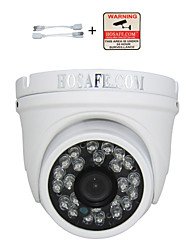 "HOSAFE™ 2MD4 Waterproof 1/2.5"" CMOS 2.0MP 1080P ONVIF Dome IP Camera with POE / 24-IR-LED"
