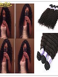 3pcs / lot top 8-A venda de cabelo onda profunda feixes Remy não transformados extensões de cabelo humano tecer cabelo virgem em estoque
