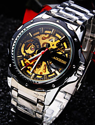 Men's Round Business Dial Mineral Glass Mirror Stainless Steel Band Fashion Life Waterproof  Mechanical Watch