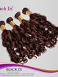 "4Pcs/Lot 8""-28"" Unprocessed Brazilian Virgin Hair Chocolate Brown Spiral Curl Human Hair Weave 100% Human Hair"