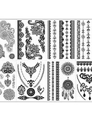 Séries de Jóias/Séries Flores - Brand New - Tatuagem Adesiva - Non Toxic/Estampado/Tribal/Lombar/Waterproof - para
