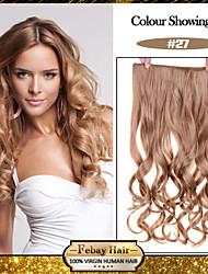 5 clips ondées blonde de fraise (n ° 27) pince à cheveux synthétiques dans les extensions de cheveux pour plus de couleurs disponibles