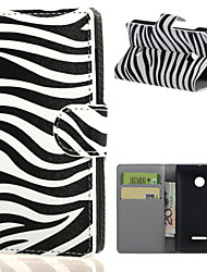For Nokia Case Wallet / Card Holder / with Stand Case Full Body Case Black & White Hard PU Leather NokiaNokia Lumia 640 / Nokia Lumia 640
