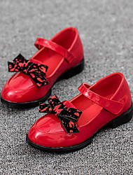 Girl's Spring / Fall Leatherette Casual Bowknot / Magic Tape Black / Red
