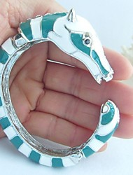 Unique Horse Bracelet Bangle With Clear Rhinestone Crystals