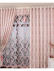 dos paneles europeo cortinas del dormitorio nuevo restaurante jacquard de alto grado de moda contratada