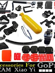37pcs In 1 Accessoires GoPro Fixation / Smooth Frame / Avec Bretelles / Sacs / Vis / Suction / Poignées / Adhésif Pour Tous / SJCAMFibre