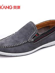 Синий / Серый Мужская обувь Для прогулок / Для офиса / На каждый день Замша Лоферы