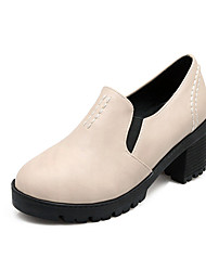 Women's Shoes Chunky Heel Heels Heels Casual Black / Gray / Beige