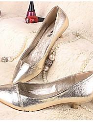 Women's Shoes Low Heel Heels Pumps/Heels Casual Black/Gold