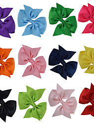 12 Pcs Hair Bows Classice Bow Grosgrain Ribbon Mix Color Hair Clips Hairbows Accessories Headwear Party Favors AC019