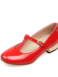 Women's Shoes Low Heel Round Toe / Closed Toe Flats Office & Career / Dress / Casual Black / Red / White