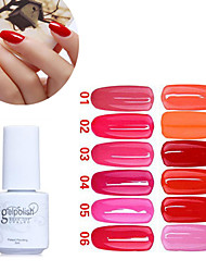 lentejuelas de color ultravioleta del clavo gel no.1-12 polaco (5 ml, colores surtidos)