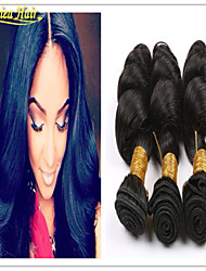 3pcs / lot extensões de cabelo virgem brasileiro onda solta reais Mechas de cabelo de trama novos produtos humanos 8-32inch cabelo 3