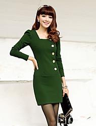 Women's Dresses , Knitwear/Viscose rayon Bodycon/Casual/Work Long Sleeve K.M.S
