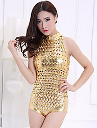 Clubwear Leotards Women's Performance Chinlon/Polyester Polka Dots 1 Piece Black/Gold/Silver