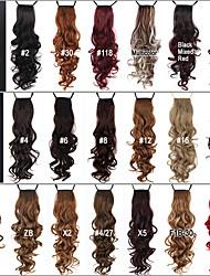 Ausgezeichnete Qualität Synthetic 24 Zoll langes lockiges Clip In-Band-Pferdeschwanz Haarteil - 20 Farben erhältlich