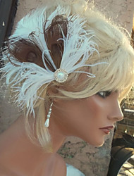 Hand Made Wedding Feather Hair Clip Fascinator Headpieces Fascinators 030
