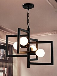 YL Chandeliers/Pendant Lights/Ceiling 4 LED Bulb With Iron Hanging Wire Minimalist Style