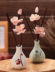 Plum Vase Flower Aroma Reed Diffuser Scent Fragrance Oil (Random Color)