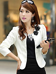 Women's  Vogue Double Breasted Round Long Sleeve Short Blazer