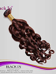 1Pcs/Lot Brazilian Virgin Hair Spiral Curl 100% Human Hair Weft Chocolate Brown Unprocessed Hair Extensions