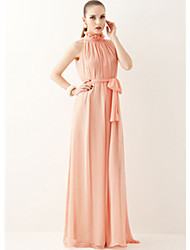 A.H.W  Women's Round Dresses , Chiffon Sexy/Casual Sleeveless