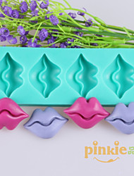 Lips Shaped Fondant Cake Chocolate Silicone Molds,Decoration Tools Bakeware