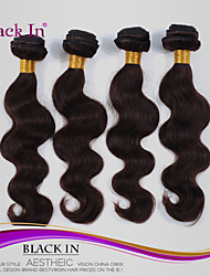 "4 Pcs Lot 12""-30"" Brazilian Body Wave Virgin Hair Wefts Dark Brown Remy Human Hair Weave Tangle Free"