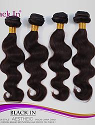 """4 pcs lote 12 """"-30"""" brasileiros onda corpo tramas do cabelo escuro virgens remy marrom cabelo humano tecer emaranhado livre"""