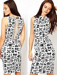 Women's Dresses , Cotton Sexy/Bodycon/Beach/Casual/Cute/Party/Work Lynn
