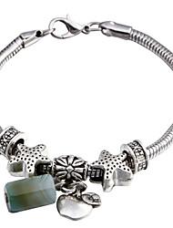 Vilam® Jade Original Stone Women's Bead Chain Bracelet Uneasy Fade (Random Color)
