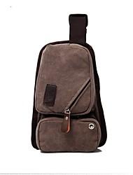 Men 's Canvas Messenger Shoulder Bag - Green/Yellow/Brown/Black