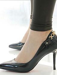 Кожа - ЖЕНЩИНЫ На каблуках - Обувь на каблуках ( Черный ) - На шпильке