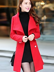 Women's Long Sleeve Tweed Coat , Casual