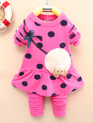 Girl's Cotton Blend Clothing Set , Spring/Fall Long Sleeve,New children's clothes,For 0-4 Years Old Baby Wear, Fashion