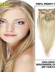 2015 la migliore vendita clip di capelli capelli remy vergini nelle estensioni dei capelli umani 7pieces tutti i colori disponibili in