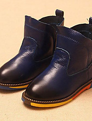 Baby Shoes Casual Leather Boots Black/Blue/Brown