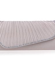 Women Polyester Minaudiere Clutch / Evening Bag - Beige