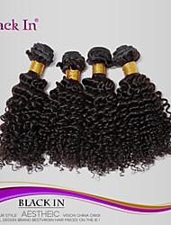 """4 pcs lote 12 """"-30"""" Kinky brasileira enrolar o cabelo virgem tramas remy preto natural tecer cabelo humano emaranhado livre"""