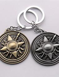 la mode des bijoux en alliage jeu de cosplay de trônes de clés badge famille de chaînes clé logo pendentif anneaux boucle clé